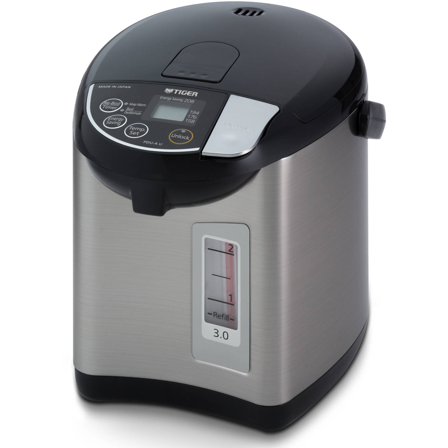 Tiger Electric Water Boiler and Warmer,Stainless Black, 3.0-Liter