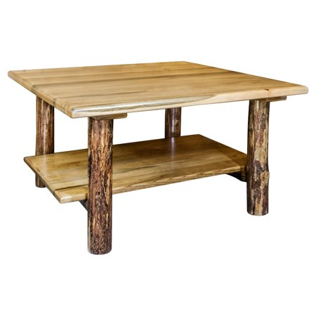 Montana Woodworks Glacier Country Cocktail Table with Shelf ()