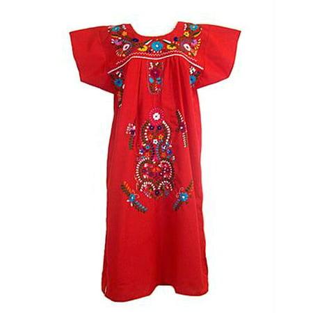 Leos Imports™ Mexican Dress Puebla (Medium, Red)](Orange Is The New Black Fancy Dress)