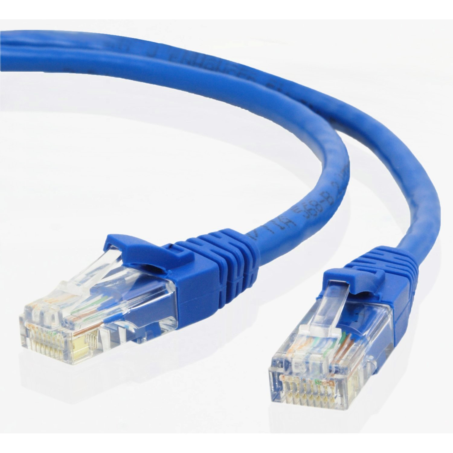 Swell Blue Gold Plated 50Ft Cat5 Cat5E Rj45 Patch Ethernet Network Cable Wiring Digital Resources Spoatbouhousnl