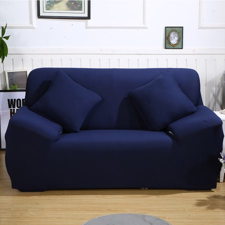 Solid Color Elastic Sofa Cover Stretch Arm Elastic Sofa Slipcover 1 2 3 4  Piece Polyester Spandex Fabric Slipcovers