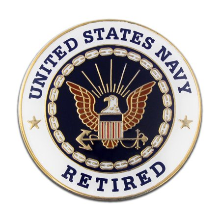 U.S. Navy Retired Military Enamel Lapel Pin
