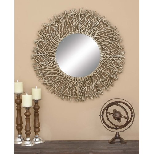 Cole & Grey Wood and Metal Mirror