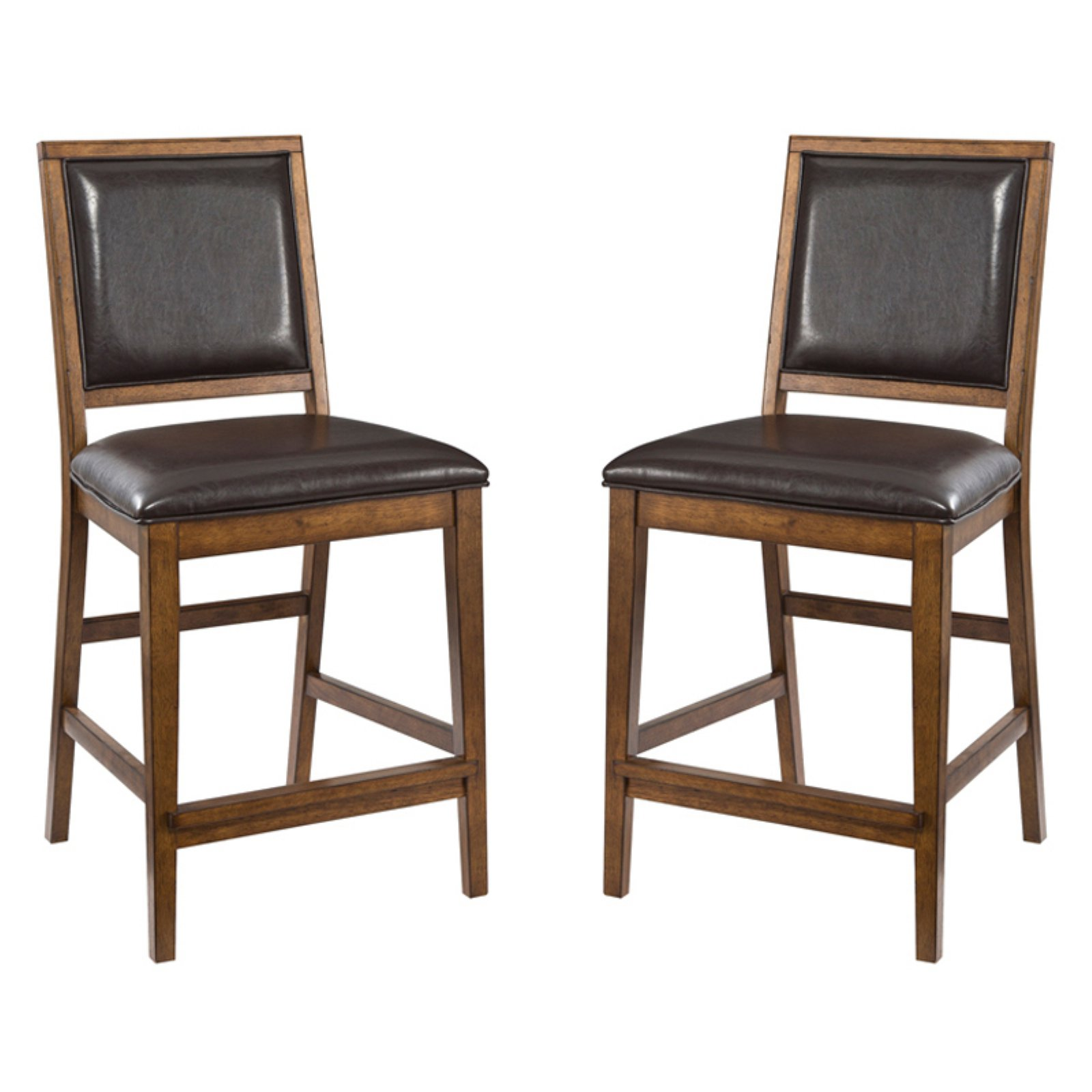 "Imagio Home by Intercon San Thomas 24"" Upholstered Barstool, Set of 2, Warm Brandy"