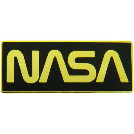 Gold Color Nasa Logo Pin 1