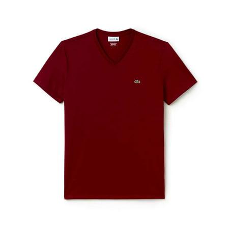 Lacoste Men'standard Short Sleeve Pima V-Neck Tee