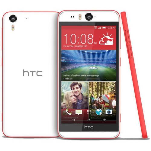 HTC Desire Eye M910X Smartphone (Unlocked), White/Red