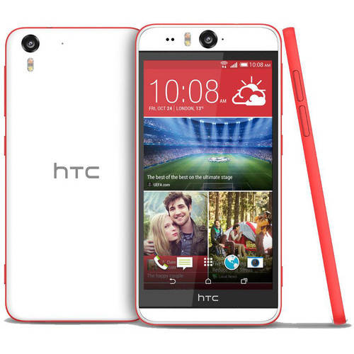 HTC Desire Eye M910X Smartphone (Unlocked), White/Red