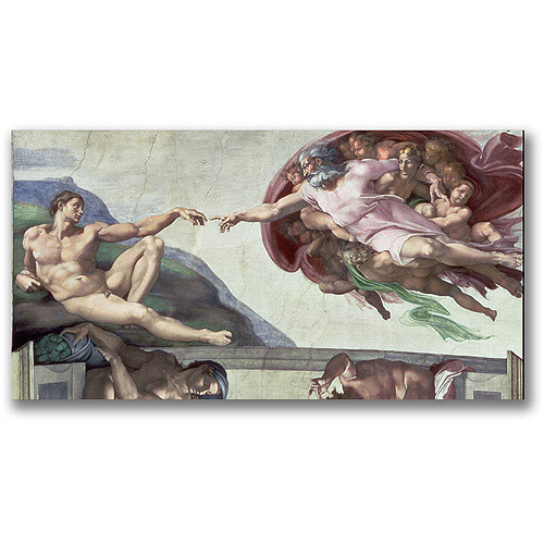 "Trademark Fine Art ""Sistine Chapel Ceiling"" Canvas Wall Art by Michelangelo"