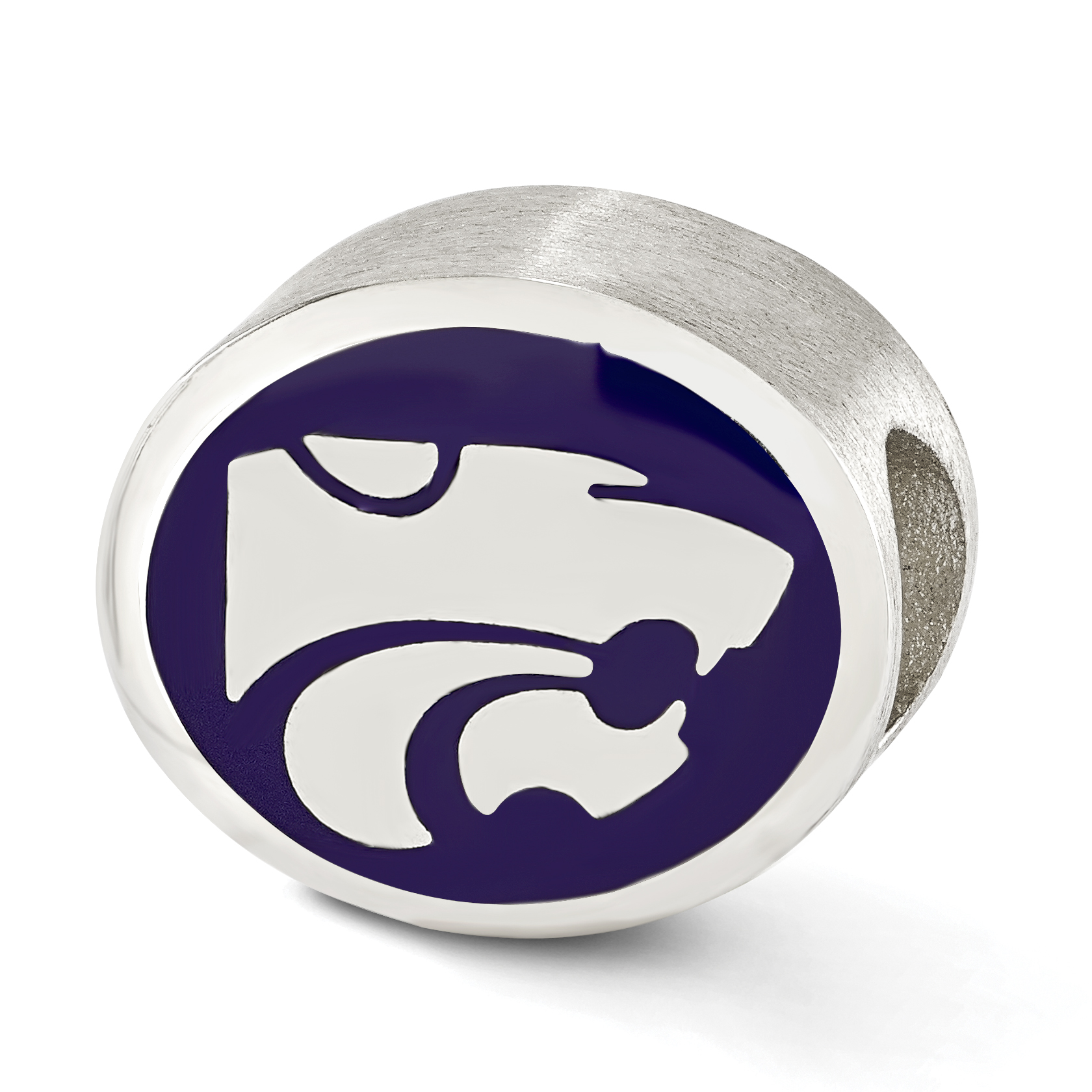 Sterling Silver Enameled Kansas State University Collegiate Bead QRS2092E1