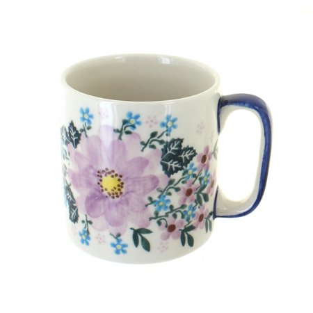 Polish Pottery Lilac Garden Coffee Mug Art Pottery Coffee Mug