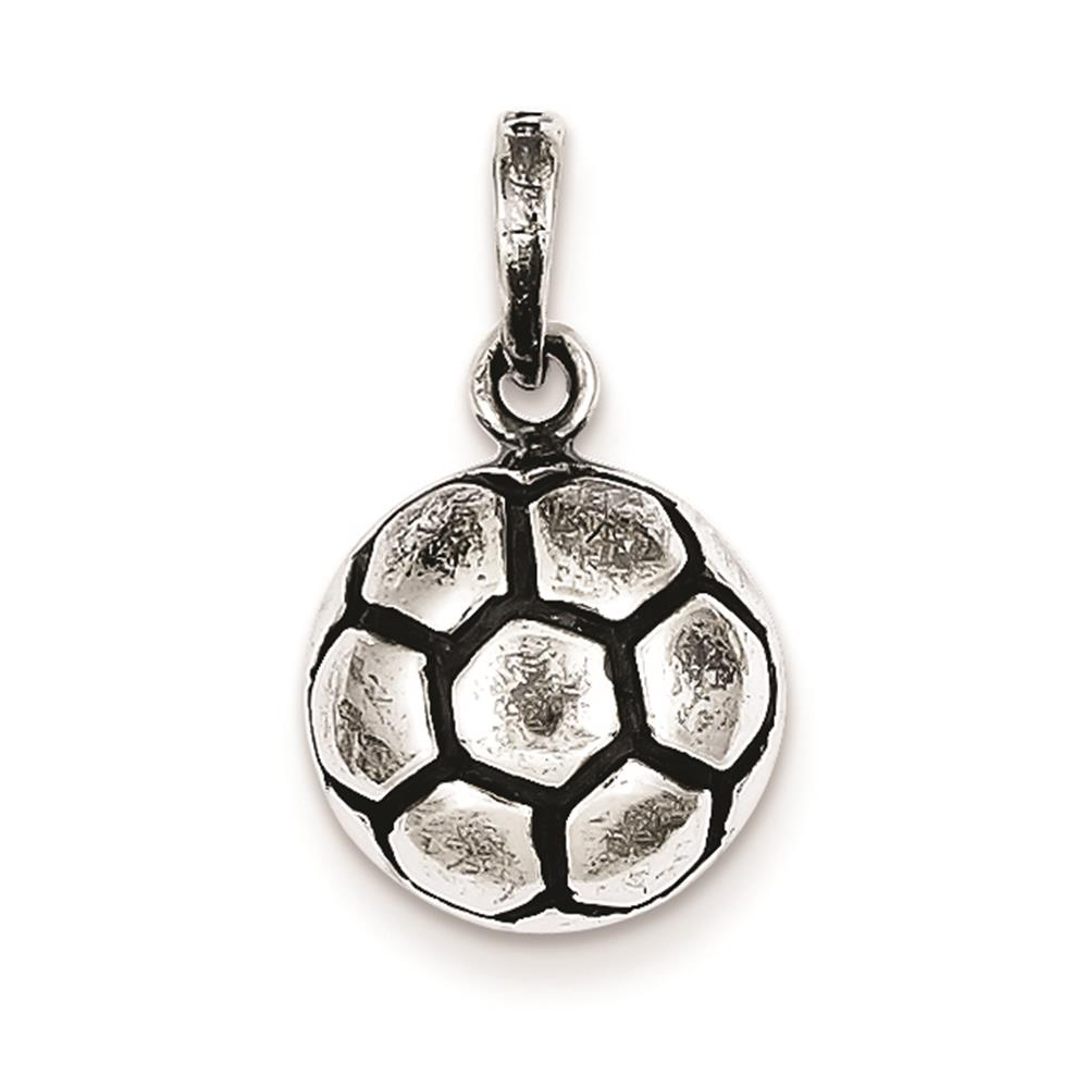 Antiqued Charm Pendant 16mmx13mm 925 Sterling Silver