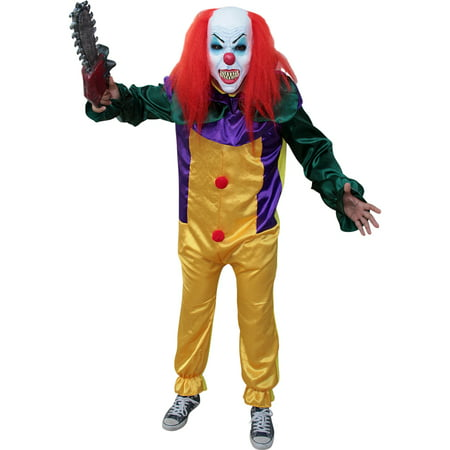 Pennywise The Clown Costume (Adult Killer Prank Clown It Pennywise)