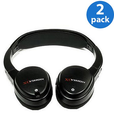 XO Vision IR620 IR wireless headphones for in-car Video listening (2 Pairs)