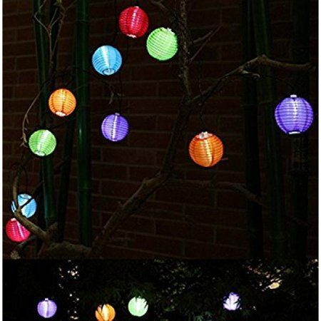 gogos solar string lights outdoor 16ft 20 led warm white fabric
