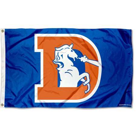NFL Denver Broncos Throwback Vintage 3' x 5' Flag