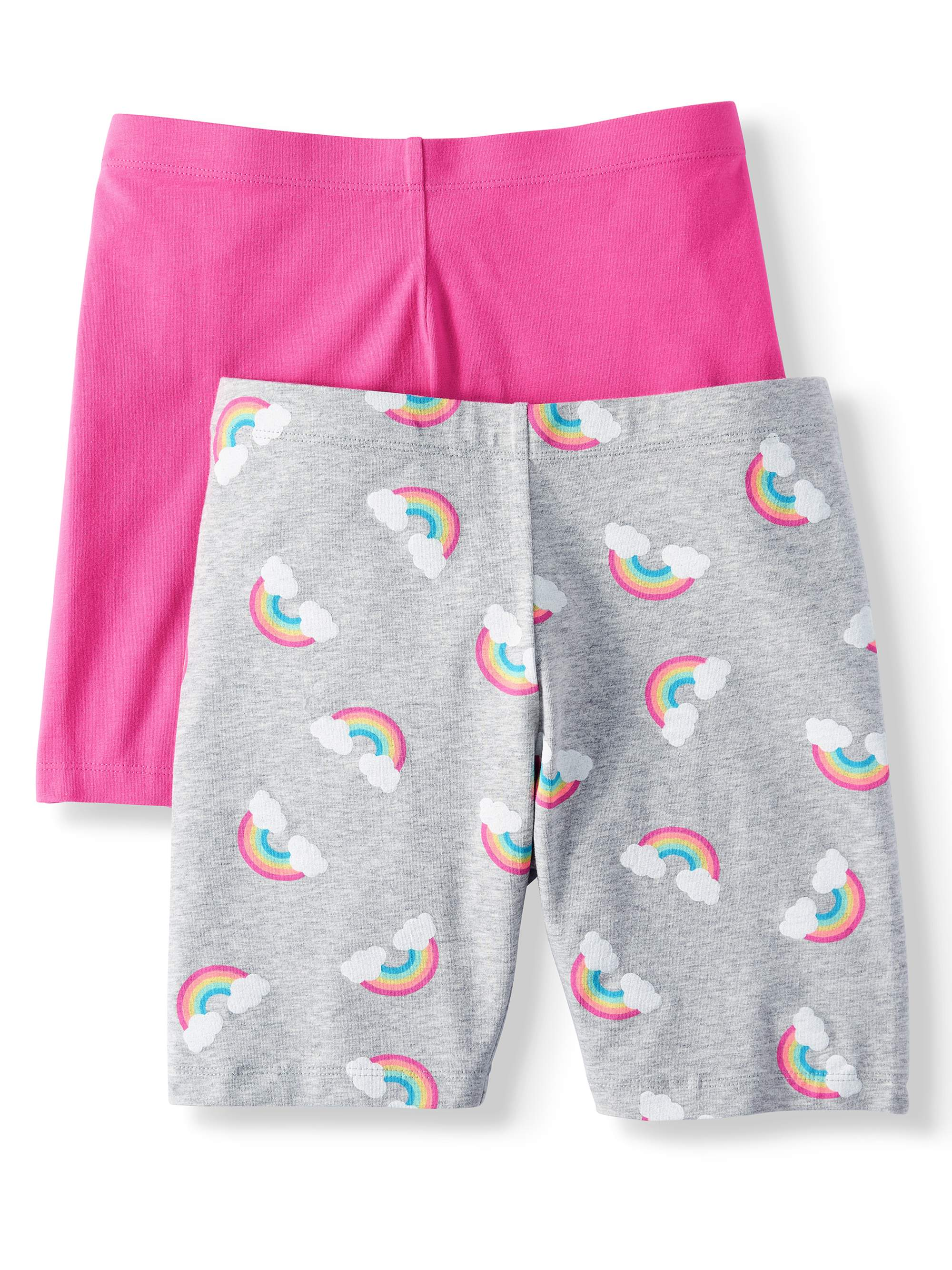 Solid and Printed Bike Shorts, 2-Pack (Little Girls & Big Girls)