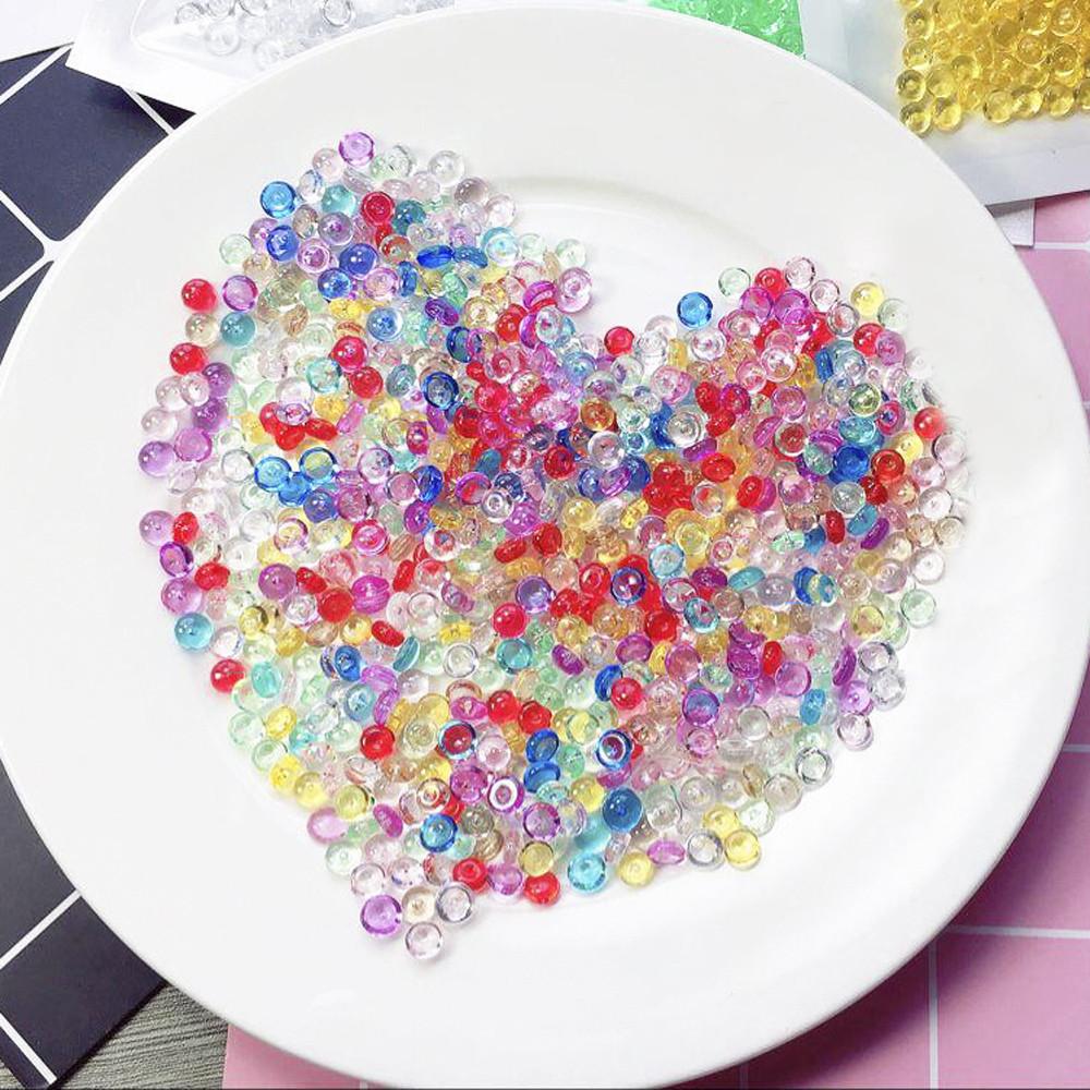 Iuhan Colorful Styrofoam Foam Balls Slime Tool Fruit Slice For Slime Making Art DIY