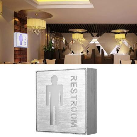 Garosa LED Toilet Sign, LED Man Restroom Sign, Aluminum LED Indicator Safety Instructions Man Male Toilet Restroom Symbol 85-265V - image 4 of 7