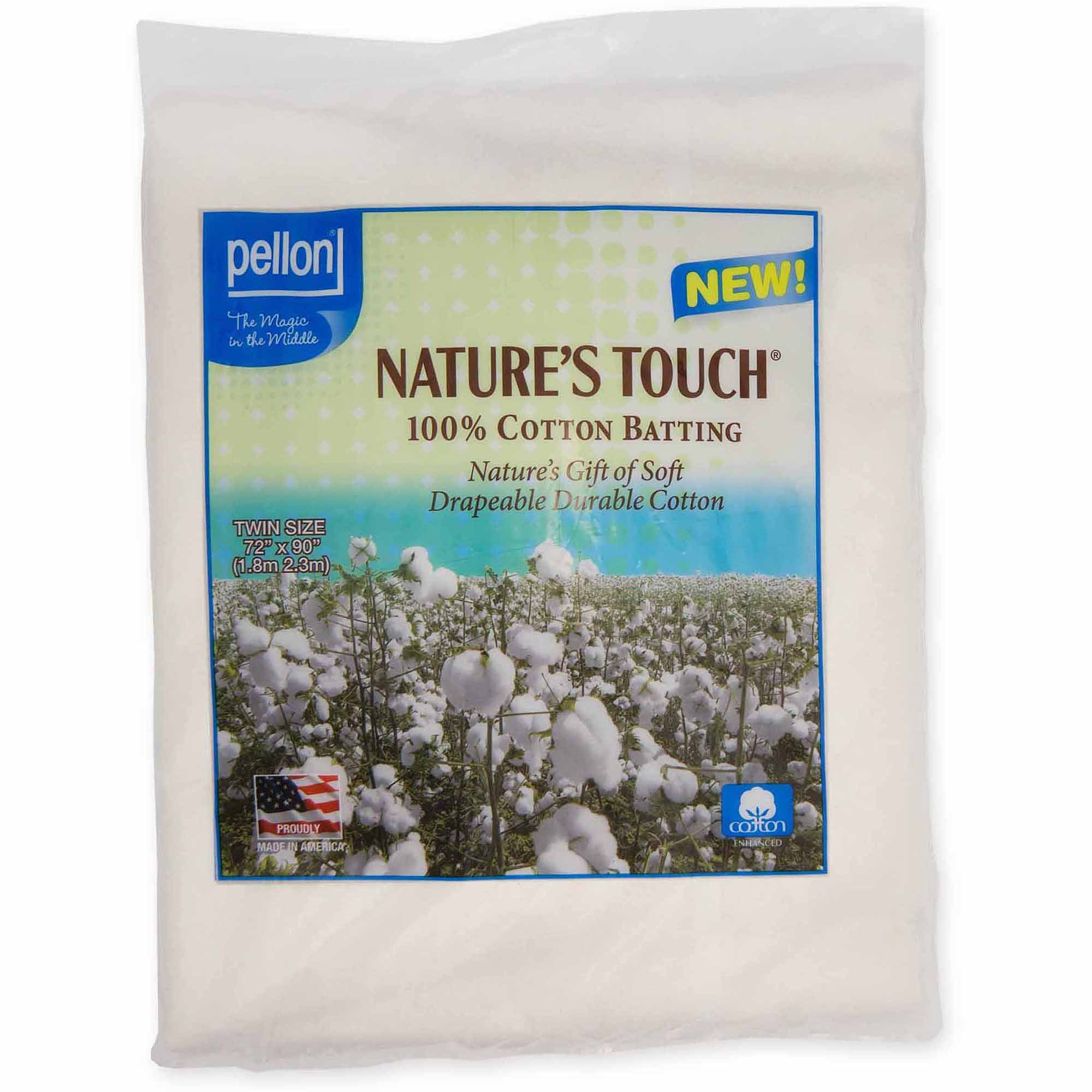 Pellon Nature's Touch 100 Percent Natural Cotton Batting with Scrim