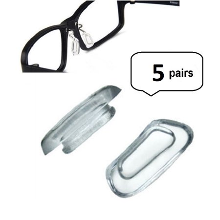 - AM Landen 5 Pairs 12mm Soft Air Chamber Silicone Eyeglasses Nose Pads for Titanium Frames