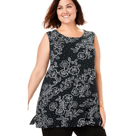 Woman Within Plus Size Best Dressed Essential A-line (Best Place For Womens Suits)
