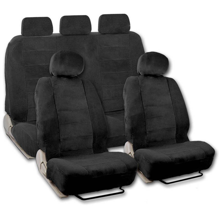 BDK Encore Extra Large Car Seat Covers,, 9 Pieces, Front and Rear Full Set, Low Back