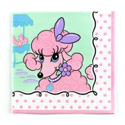 Pink Poodle in Paris Lunch Napkins