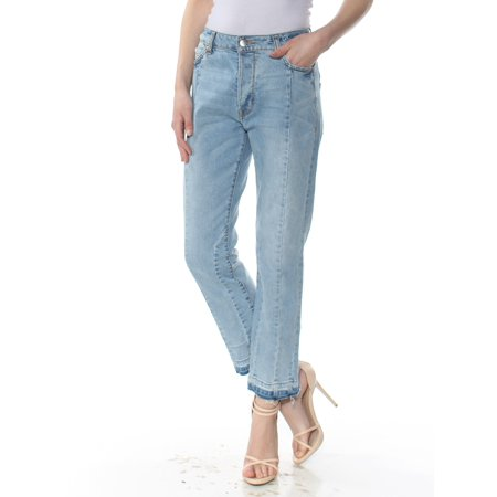Blue Denim Crop - RACHEL ROY Womens Blue Cropped Jeans  Size: 30 Waist