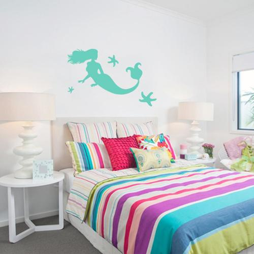 Sweetums Large Mermaid and Starfish Wall Decals