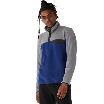 Free Assembly Men's Colorblock Mock Neck Popover Jacket