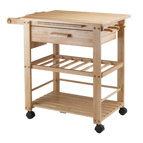 Winsome Wood Finland Utility Kitchen Cart, Natural Finish