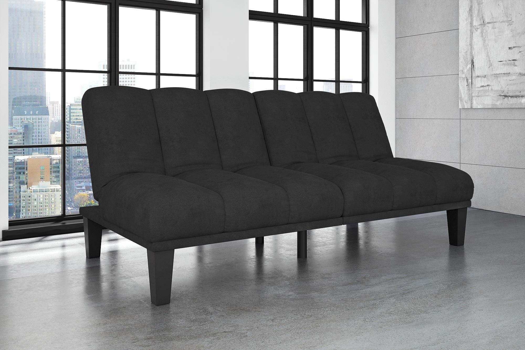 Hamilton Estate Premium Sofa Futon Sleeper, Comfortable Plush Upholstery,  Sturdy Wood Construction, Modern