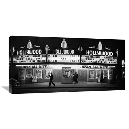 Global Gallery Kurt Hutton \'All Night Cinema in Hollywood\' Canvas ...