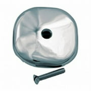 Delta Faucet 738146 Master Plumber, Square Overflow Face Plate