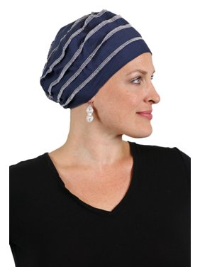 c5ac2f9bf8d Product Image Slouchy Beanie Hat for Women Cancer Headwear Snood Ladies  Chemo Cap Hair Loss (Navy)