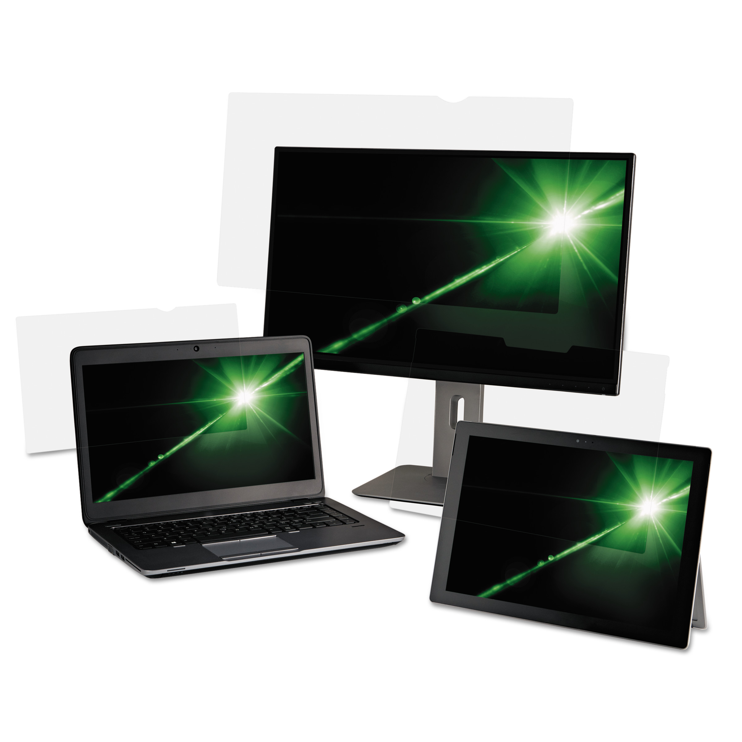 "3M Antiglare Flatscreen Frameless Monitor Filters for 14"" Widescreen Notebook"