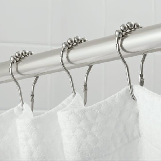 Hotel Style V-Glide Shower Hooks with Easy Glide - Walmart.com