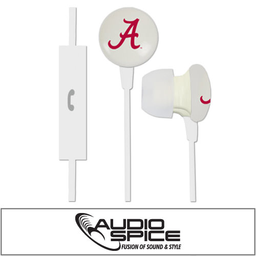 Alabama Crimson Tide Ignition Earbuds + Mic