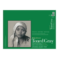 Strathmore Toned Sketch Paper Pad, 400 Series, 18in x 24in, 24 Sheets, Gray