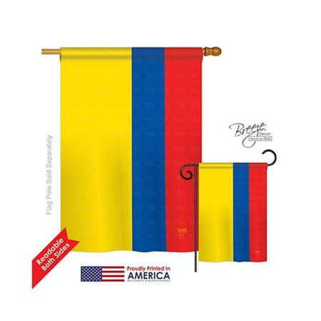 Breeze Decor 08220 Ecuador 2-Sided Vertical Impression House Flag - 28 x 40 in. - image 1 de 1