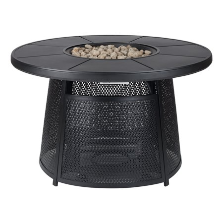 Better homes gardens acadia round outdoor gas fire pit - Better homes and gardens gas fire pit ...