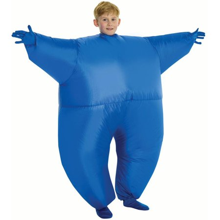 Morphsuits Child Inflatable Kids Costume Mega Morphsuit, Blue, One-Size