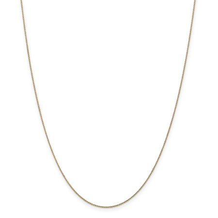 14k Yellow Gold .75mm Solid Link Cable Chain Necklace 18 Inch Pendant Charm Gifts For Women For Her 14k Gold Cable Link