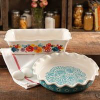 The Pioneer Woman Flea Market Pie Plate & Baking Dish Set