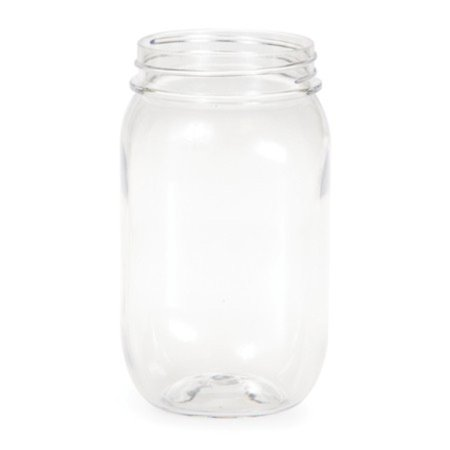 Pack of 6 Clear Transparent Glass Rustic Wedding Party Favor Mason Jars 16 oz.