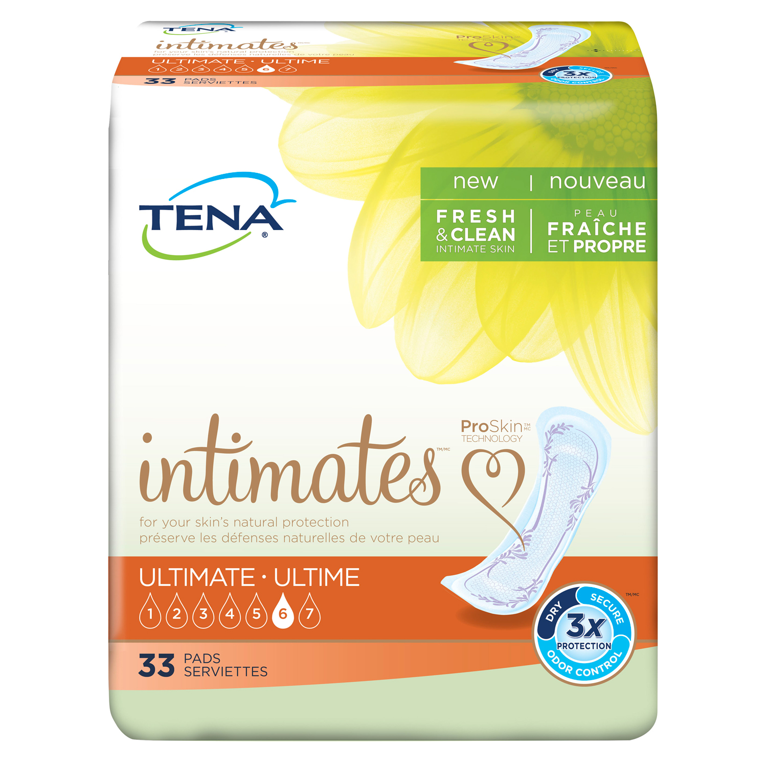 Tena Incontinence Pads for Women, Ultimate, 33 Count