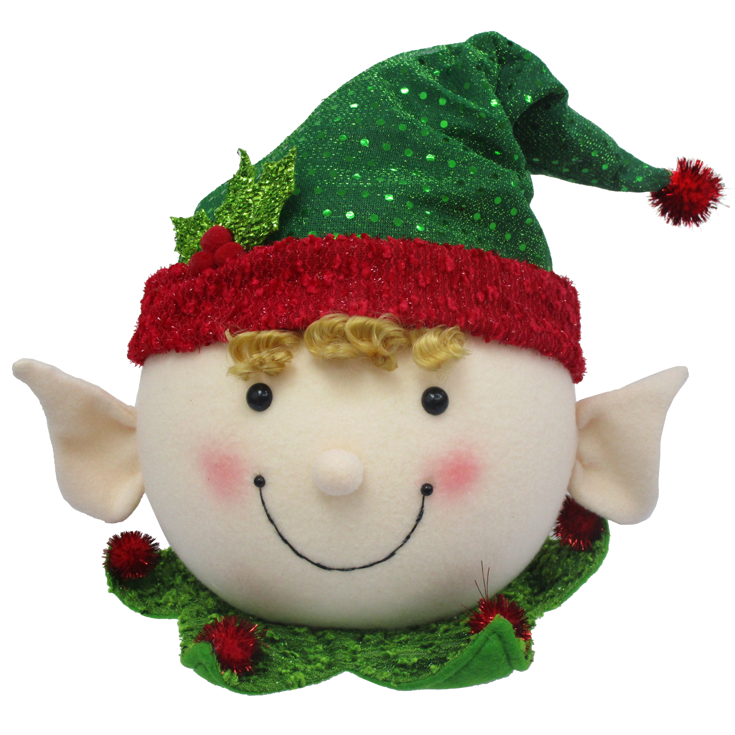 Holiday Time Elf Tree Topper.