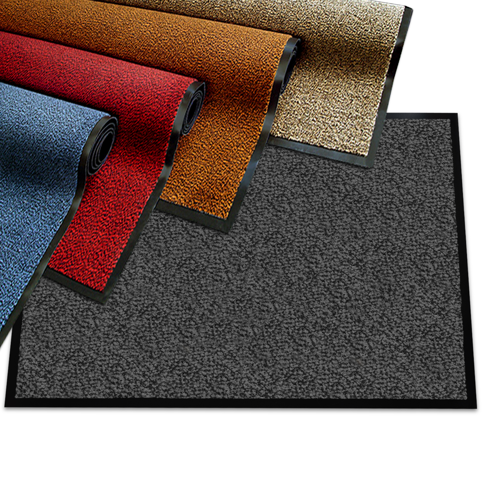 "Premium Door Mat | Entryway Rug - Very Good Comparison Test Score Rating (A-/1.3) | Ideal as Entrance Mat or Outdoor Carpet | Charcoal Gray - 24"" x 36"""