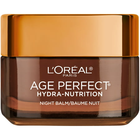 L'Oreal Paris Age Perfect Hydra Nutrition Night Balm with Manuka Honey Extract (New Look), Paraben Free, 1.7 oz. (Rejuvenating Night Balm)